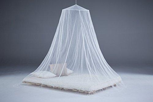Moustiquaire Extra Large pour lit double 200x 200cm blanc