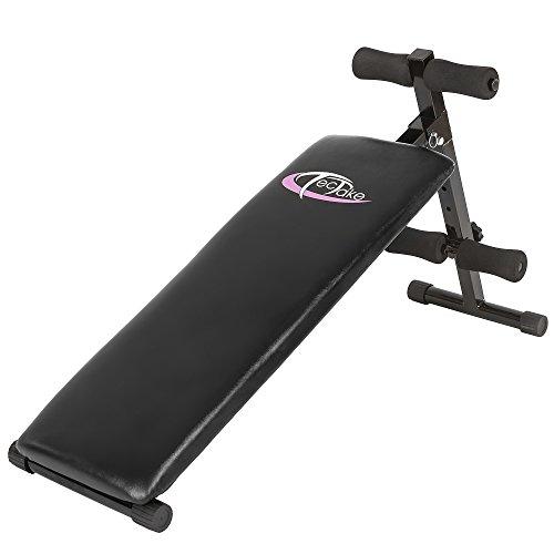 TecTake 401078 Banc de Musculation pour Muscles Abdominaux 120 cm x 33 cm x 63 cm Appareil de Fitness Sport