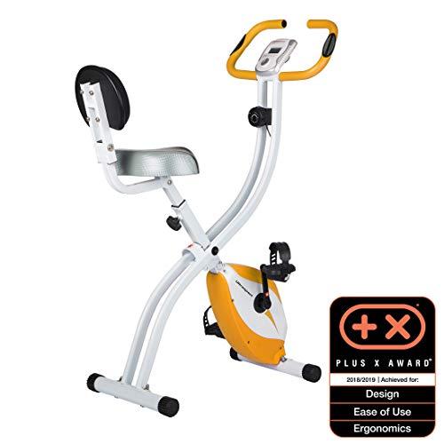 Ultrasport F-Bike 200B Vélo d'Appartement Pliant avec Capteurs de Pouls à la Main, avec Dossier Mixte Adulte, Orange, Taille unique