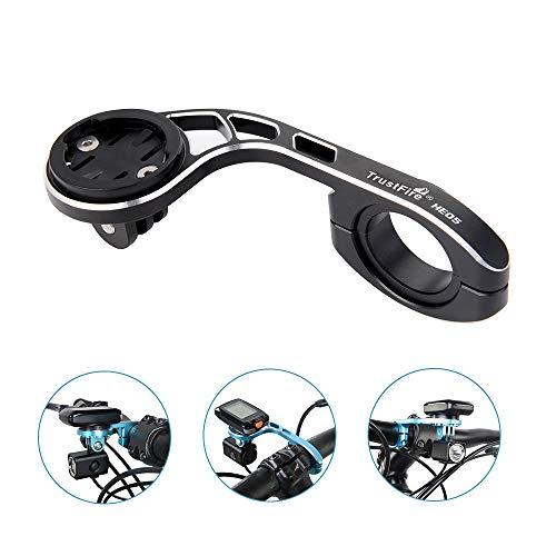 TrustFire Lisibilité Support de vélo pour Garmin Edge Compteur de vélo, Cyclisme, Support pour GPS Compatible avec 31,8mm 25,4mm Guidon de vélo, Noir