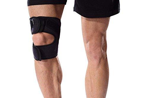 Bonmedico Genuo - Genouillère réglable pour le sport, la course à pied et le fitness. Stabilisation efficace des ligaments croisés, du ménisque, de la rotule, etc. Pour homme et femme