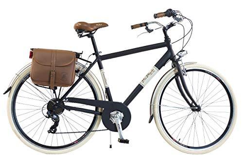 Via Veneto by Canellini City pour Roues de vélo Bike CTB Homme Vintage Retro Via Veneto alluminium (Noir, 54)
