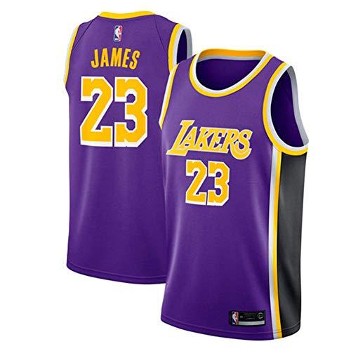 MTBD Maillot de Basket, NBA #23 Retro Lakers Lebron James,T-Shirt de Joueur de Basket-Ball, Broderies Respirantes et Résistantes à l'usure T-Shirt pour Hommes