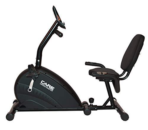 CARE FITNESS - Vélo Cardio Master - Vélo couché - Vélo Semi-allongé - Masse d'inertie 9 kg - 21 programmes - 5 Fonctions