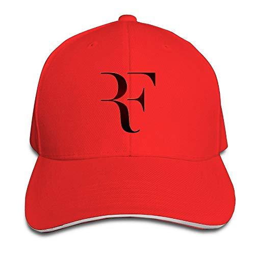Pimkly Casquettes de Baseball Roger Federer Sandwich Baseball Caps for Unisex Adjustable Red