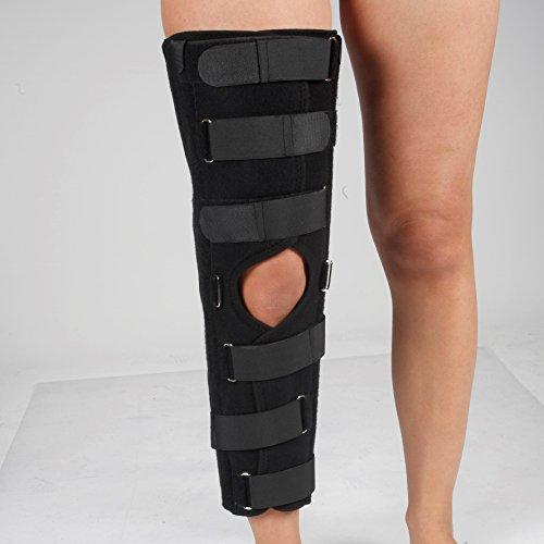 Attelle d'immobilisation du genou avant et après opération, trois tailles