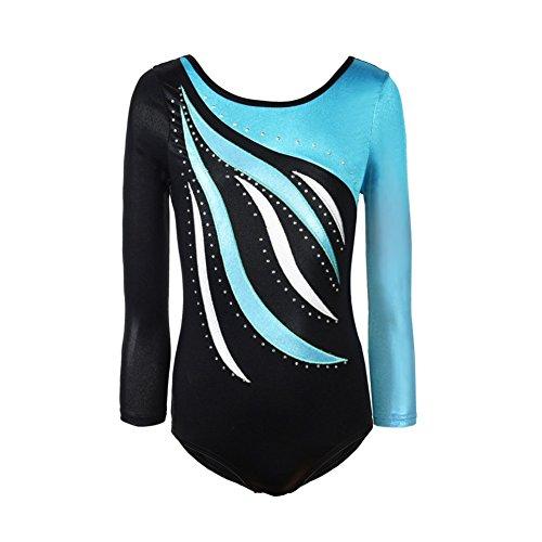 BOBORA Enfant Manches Longues Dancewear Vetements de Gymnastique Bodysuit Ballet Justaucorps