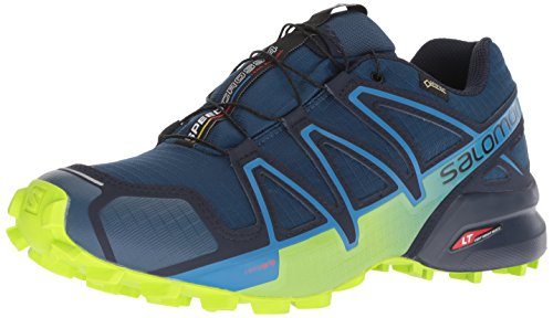 Salomon - Speedcross 4 GTX - Chaussures à Randonnée - Homme - Rouge (Fiery Red/Red Dalhia/Bright Marigold) - 44 2/3 EU