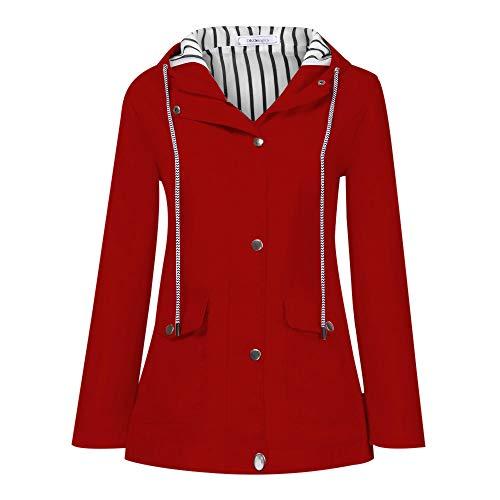 Veste Kimono Gilet Blazer Manteau Hiver Femme Solide Pluie De Plein air Plus Imperméable Encapuchonné RainWindproof Vêtements d'extérieur