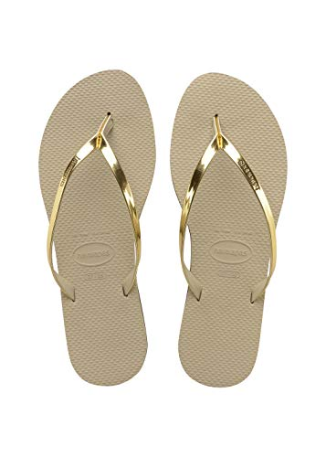 Havaianas You Metallic, Sandales Bout ouvert Femme, Or (Sand Gris/Light Golden 2719), 41/42 EU