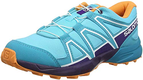 Salomon Enfant Speedcross J, Chaussures de Trail Running, Violet/Bleu (Crown Blue/Sparkling Grape/Phantom), Pointure: 35
