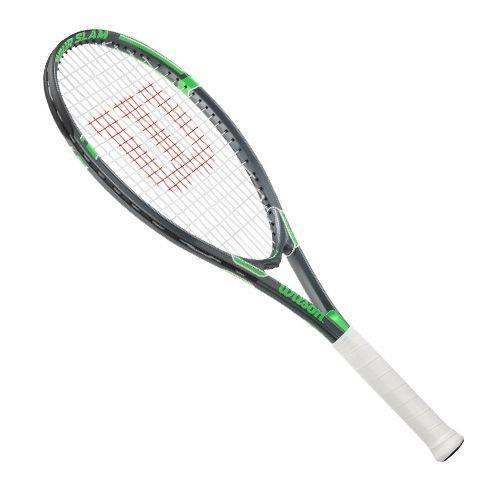 Wilson Tour Slam Raquette de Tennis à Cordes pour Adulte, Homme, Wilson Tour Slam Tennis Racket - 4 3/8' Grip, Vert, 4 3/8'
