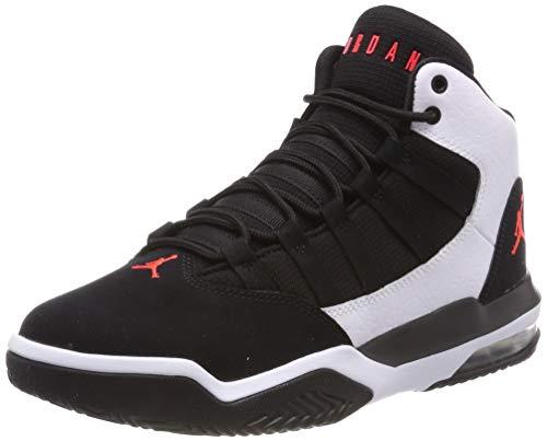 Nike Jordan Max Aura, Chaussures de Basketball , Multicolore (White/Infrared 23/Black 101), 38.5 EU