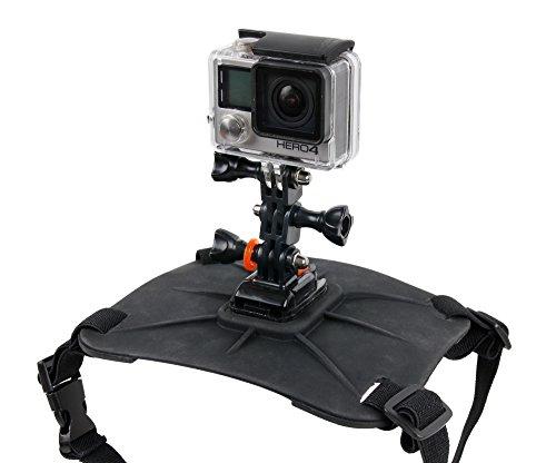 Duragadget Harnais/Fixation Dorsale pour Chien pour GoPro Hero4 Session (Black & Silver CHDHS-101-EU) Caméra embarquée 8 Mpix WiFi sans Fil + Support Rigide Ajustable pour Le Dos