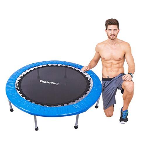 TOOWE 40/48 Pouce Pliable Fitness Trampoline, Jardin à l'extérieur pour Les Adultes, Urban Cardio entraînement Home Trainer, Max Limit 320 lbs,Blue,48inches