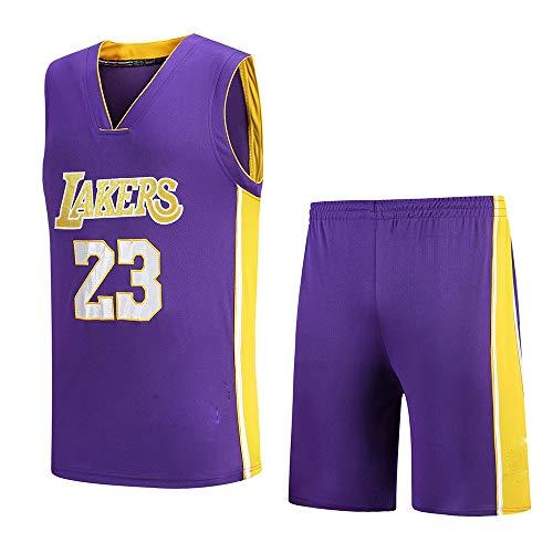 Cavaliers, Lakers, 23e James New Jersey, Ensemble De Maillots De Basket-Ball Brodés
