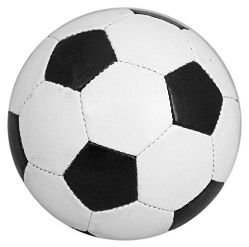 Ballon de football en cuir PU Taille standard 5 Noir/blanc