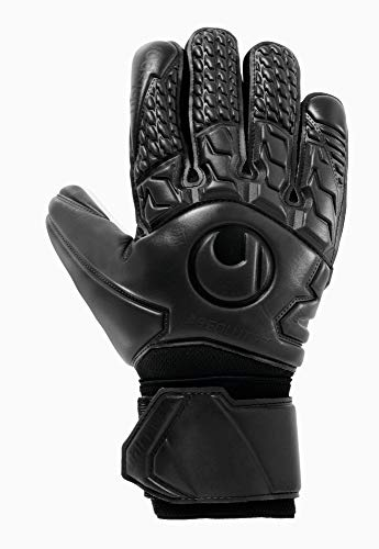 Uhlsport Comfort ABSOLUTGRIP HN Gants de gardien de but Mixte Adulte, Noir, FR Unique (Taille Fabricant : 9.5)