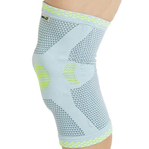 Genouillère Neotech Care avec protection rotulienne en silicone - Protège-genou sport - Matériel élastique et respirant - Couleur grise - Emballage de 1 unité - Taille M