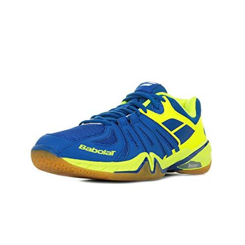 Babolat Chaussures de Badminton Hommes Shadow Spirit Hommes 30s1611 Bleu/Jaune-