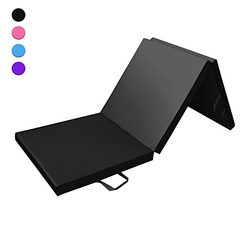 Prime Selection Products Tapis de Sol 180cm pour Fitness et Exercices, Matelas de Gym Épais et Pliable pour la Maison; Longueur: 180 cm * Largeur: 60 cm * Épaisseur: 5 cm (Noir)