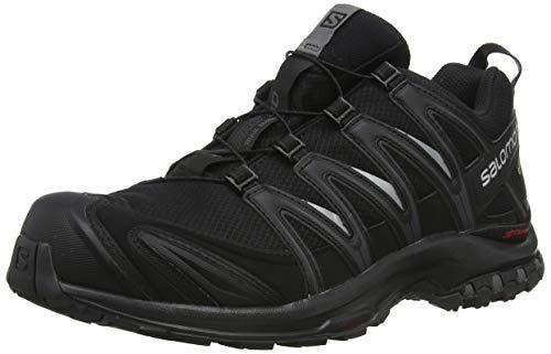 Salomon Homme Chaussures de Trail Running, XA PRO 3D GTX, Couleur: Noir (Black/Black/Magnet), Pointure: EU 44