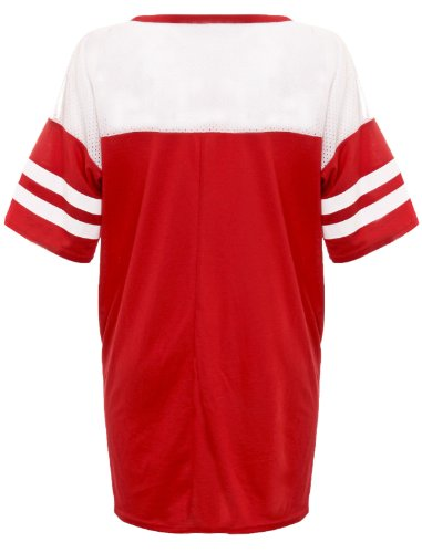 Flirty Wardrobe Top Maillot DE Football AMÉRICAIN 87 Chicago Loups T-Shirt Style Universitaire IMPRIMÉ Femme