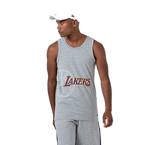 New Era NBA Team Graphic Tank Vest (Large, LA Lakers - Grey)