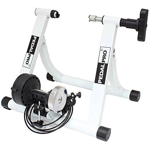 PedalPro MK II Entraineur Réglable Turbo Magnétique pour Vélo – Blanc