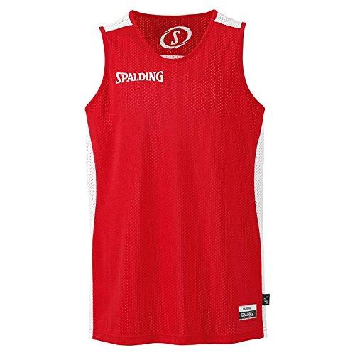 SPALDING - Essential Maillot Reversible - Maillot de Basket - Homme - Rouge (Rouge/Blanc) - Taille: L