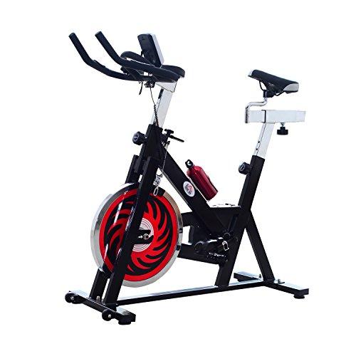 Homcom Vélo d'appartement d'exercice Professionnel écran de contrôle Multifonction LCD Noir