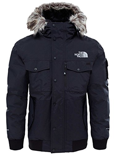 The North Face Gotham Veste Homme, Noir (TNF Black/High Rise Grey), FR : S (Taille Fabricant : S)