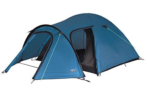 High Peak Kira 4 Tente dôme Mixte Adulte, Bleu/Marron, 345 x 250 x 130 cm
