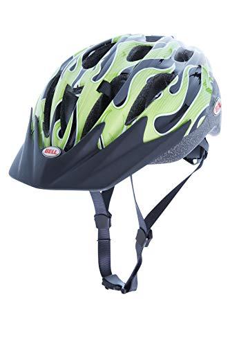 BELL Cognito FS Casque de vélo Taille Universelle Enfants, Green flamage–Casque de Vélo
