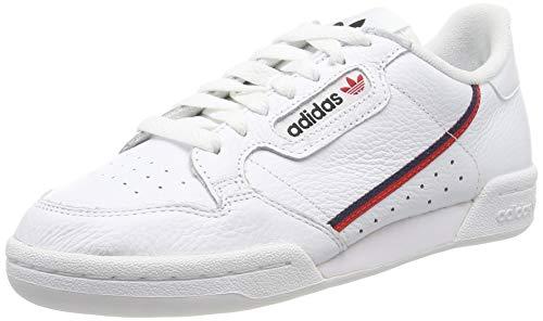 adidas Continental 80, Chaussures de Fitness Homme, Blanc (Ftwbla/Escarl/Maruni 000), 42 EU