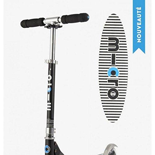Micro Mobility - Trottinette Micro Sprite Noire - Trottinette Enfant compacte et pliable - Apprentissage de l'équilibre - À partir de 6 ans