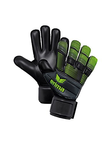 Erima Skinator Gants de Gardien de But Hardground 8 Schwarz/Green Gecko