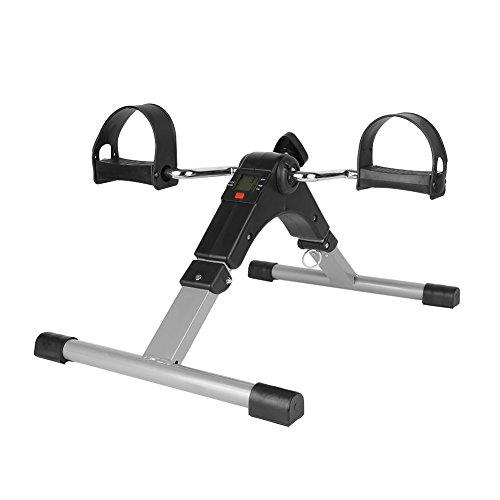 Flyelf Exerciseur de Pédale Se Pliant, Mini Vélo d'exercice, Bras de Forme Physique d'intérieur et Jambe, avec la Résistance Réglable d'affichage Numérique