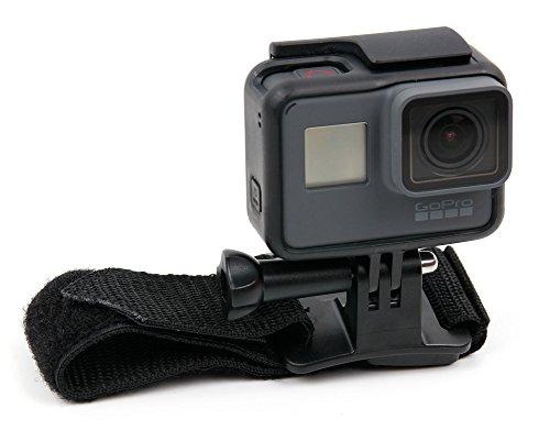 DURAGADGET Bracelet de Fixation Noir/Sangle de poignée Ajustable pour GoPro HERO5 Black Caméra d'action et HERO5 Session caméscope embarqué 10 et 12 Mpix