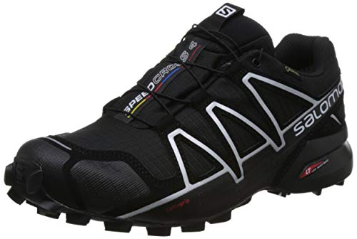 Salomon Speedcross 4, Men - Trail running shoes, Chaussures de course, Homme, Noir (Black/Black/Black Metallic), EU 48