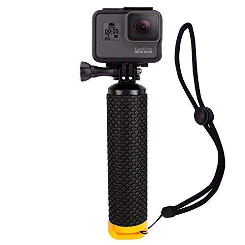 Houdian Poignée Flottante Etanche Action Caméra Grip Pôle Handle Poignée Grip Flottant pour GoPro Hero et Action Caméra Accessoires de Sport Aquatique - Jaune