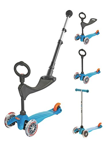 Micro Trottinette Mini 3 en 1 Push Bar Classic Aqua