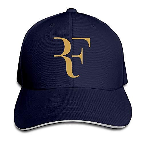 Pimkly Casquettes de Baseball Roger Federer Logo Sandwich Peaked Hat & Cap