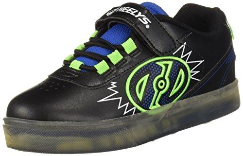 Heelys X2, Chaussures de Fitness Mixte Enfant, Multicolore (Black/Blue/Green 000), 35 EU