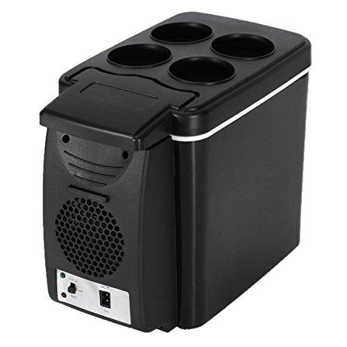 AUTOINBOX Frigo pour voiture, 12V, réfrigérateur portable pour camping, voyage, mini frigo 6l, glacière électrique multifonction, chaud et froid, noir