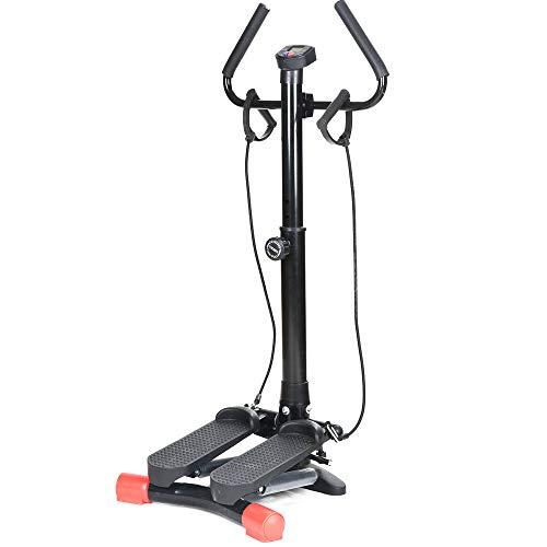 Vinteky Twister Stepper avec Guidon avec écran Multifonctions et Cordes Élastiques Poids supporté jusqu'à 90kg