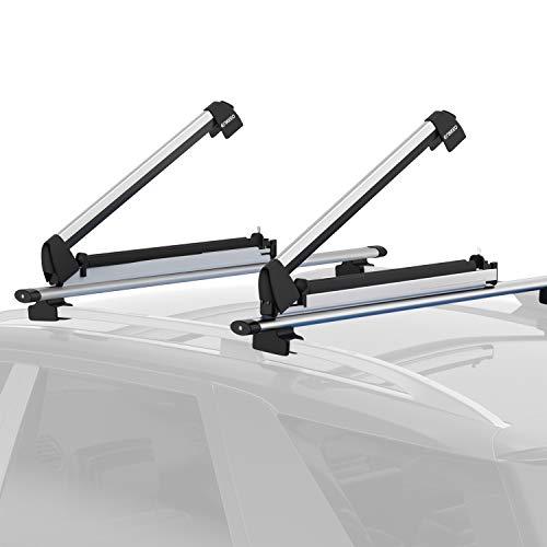 ENKEEO Porte-Skis 1 Paire en Aluminium pour Accessoires 84 x 16 x 15 cm