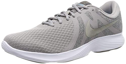 Nike Revolution 4 EU', Chaussures de Running Homme, Gris (Atmosphere Grey/MTLC Pewter/Thunder Grey/Lt Current Blue/White), 42 EU
