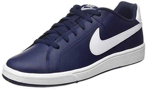 Nike Court Royale, Chaussures de Tennis Homme, Bleu (Obsidian/White/Metallic Silver), 46 EU