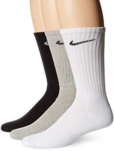 Nike - Paire de chaussettes - lot de 3 - Mixte adulte - Gris/ Noir/ Blanc - L/ 42-46